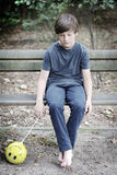 αγόρι λυπημένο Στοκ Φωτογραφία