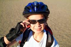 αγόρι 5 blader Στοκ φωτογραφία με δικαίωμα ελεύθερης χρήσης