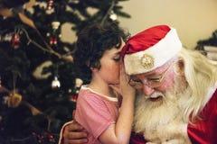 αγόρι Claus λίγο santa Στοκ Φωτογραφίες