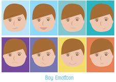 Αγόρι emoticon διανυσματική απεικόνιση