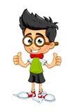 Αγόρι Geek - δύο αντίχειρες επάνω Στοκ εικόνες με δικαίωμα ελεύθερης χρήσης