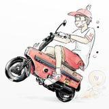 Αγόρι Motocompo διανυσματική απεικόνιση