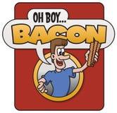 Αγόρι OH, μπέϊκον! σχέδιο Στοκ Εικόνα
