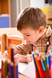 αγόρι preschooler Στοκ εικόνες με δικαίωμα ελεύθερης χρήσης