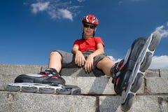 αγόρι rollerblades Στοκ εικόνα με δικαίωμα ελεύθερης χρήσης