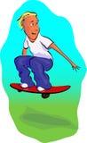 Αγόρι Scateboarder διανυσματική απεικόνιση