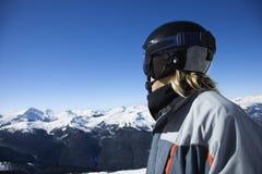 αγόρι snowboarder εφηβικό στοκ φωτογραφία