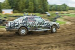 Αγώνας αυτοκινήτων συντριμμιών Στοκ Φωτογραφία