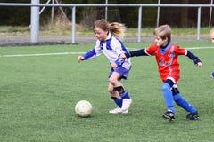 Αγώνας ποδοσφαίρου κατσικιών στοκ εικόνα με δικαίωμα ελεύθερης χρήσης