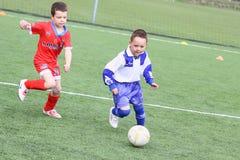 Αγώνας ποδοσφαίρου κατσικιών στοκ φωτογραφίες με δικαίωμα ελεύθερης χρήσης