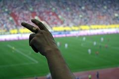 αγώνας ποδοσφαίρου Στοκ Εικόνα