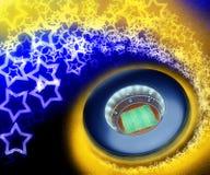 αγώνας ποδοσφαίρου Στοκ εικόνες με δικαίωμα ελεύθερης χρήσης