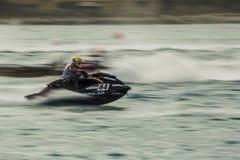 Αγώνας πρωταθλήματος ανταγωνισμού Aquabike Στοκ φωτογραφία με δικαίωμα ελεύθερης χρήσης
