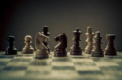 Αγώνας σκακιού Στοκ Φωτογραφία
