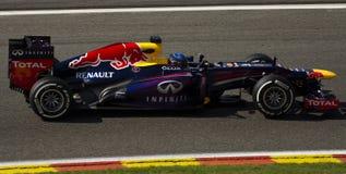 Αγώνας του Sebastian Vettel Redbull Στοκ φωτογραφίες με δικαίωμα ελεύθερης χρήσης
