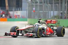 Αγώνας F1 Σινγκαπούρη του Χάμιλτον Lewis GP Στοκ Φωτογραφία