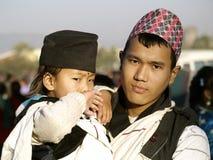 αδελφοί gurung χαρακτηριστι&kappa στοκ εικόνα