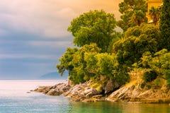 Αδριατική ακτή το φθινόπωρο στοκ εικόνες