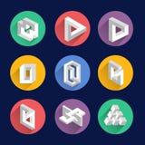 Αδύνατες μορφές, οπτικά διανυσματικά σύμβολα αντικειμένων παραίσθησης Στοκ φωτογραφίες με δικαίωμα ελεύθερης χρήσης