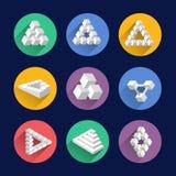 Αδύνατες μορφές, οπτικά διανυσματικά σύμβολα αντικειμένων παραίσθησης Στοκ Εικόνες