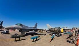 Αεριωθούμενα αεροπλάνα γερακιών πάλης F-16 Στοκ Φωτογραφία