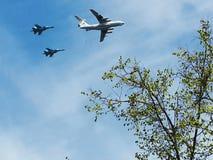 αεριωθούμενα αεροπλάνα και ουρανοί Στοκ εικόνα με δικαίωμα ελεύθερης χρήσης