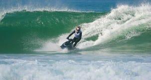 αεριωθούμενα κύματα σκι στοκ φωτογραφίες