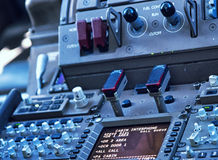 Αεριωθούμενα όργανα πτήσης πιλοτηρίων Στοκ εικόνα με δικαίωμα ελεύθερης χρήσης