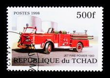 Αεριωθούμενη δύναμη πυρκαγιάς (1960), πυροσβεστικά οχήματα serie, circa 1998 Στοκ Εικόνα