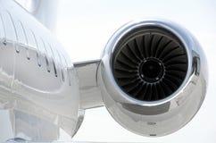 Αεριωθούμενη μηχανή σε ένα ιδιωτικό αεροσκάφος - βομβαρδιστικό Στοκ φωτογραφία με δικαίωμα ελεύθερης χρήσης