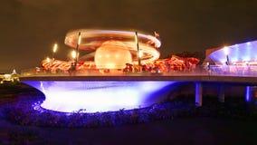 Αεριωθούμενη νύχτα σακιδίων πλάτης της Disney Στοκ Εικόνες