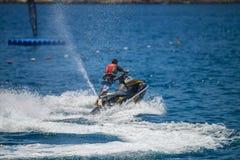 Αεριωθούμενη οδήγηση σκι Στοκ εικόνες με δικαίωμα ελεύθερης χρήσης
