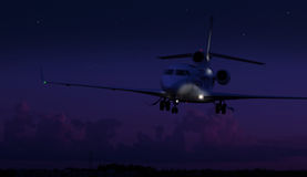 αεριωθούμενη προσγείωση ιδιωτική Στοκ Φωτογραφία