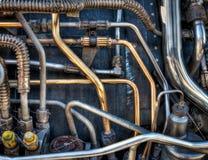 αεριωθούμενη υδραυλική εγκατάσταση μηχανών Στοκ Εικόνες