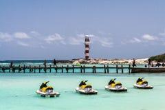 Αεριωθούμενοι ουρανοί Cancun Yucatan Μεξικό Στοκ Φωτογραφίες