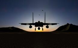 Αεριωθούμενος μαχητής Στοκ εικόνες με δικαίωμα ελεύθερης χρήσης
