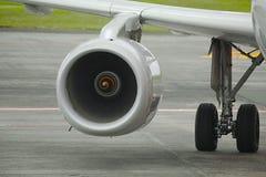 Αεριωθούμενος στρόβιλος επιβατηγών αεροσκαφών Στοκ Φωτογραφία