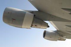 αεριωθούμενο αεροπλάνο μηχανών αεροσκαφών Στοκ φωτογραφία με δικαίωμα ελεύθερης χρήσης
