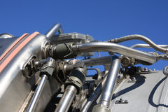 αεριωθούμενο αεροπλάνο μηχανών λεπτομέρειας Στοκ εικόνα με δικαίωμα ελεύθερης χρήσης