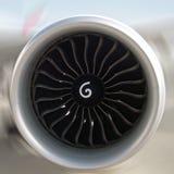 αεριωθούμενο αεροπλάνο μηχανών Στοκ Εικόνα