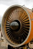 αεριωθούμενο αεροπλάνο μηχανών Στοκ Εικόνες