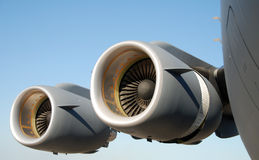 αεριωθούμενο αεροπλάνο μηχανών Στοκ εικόνες με δικαίωμα ελεύθερης χρήσης