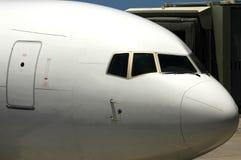 αεριωθούμενο αεροπλάνο πιλοτηρίων Στοκ Εικόνες