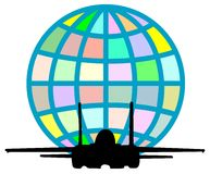 αεριωθούμενο αεροπλάνο πτήσης Στοκ Εικόνα