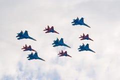 αεριωθούμενο αεροπλάνο σχηματισμού μαχητών Στοκ εικόνα με δικαίωμα ελεύθερης χρήσης