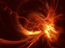 Αεριωθούμενο αεροπλάνο Φλογερό fractal δύναμης στο Μαύρο απεικόνιση αποθεμάτων