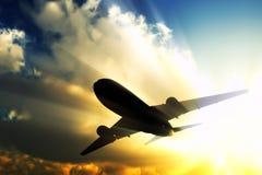 αεριωθούμενο αεροπλάν&omi Στοκ εικόνες με δικαίωμα ελεύθερης χρήσης