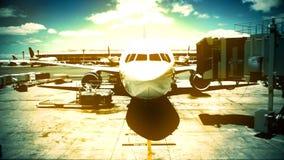 Αεριωθούμενο αεροπλάνο στο τελικό χρονικό σφάλμα φιλμ μικρού μήκους