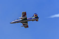 Αεριωθούμενο αεροπλάνο Tricolori Frecce Στοκ Εικόνες