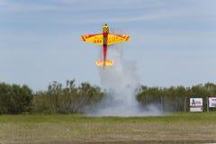 Αεριωθούμενο αεροπλάνο 2013 yak 55 Bellota πειραματικός ρόλος ροπής της Καζαμπλάνκα Στοκ εικόνες με δικαίωμα ελεύθερης χρήσης